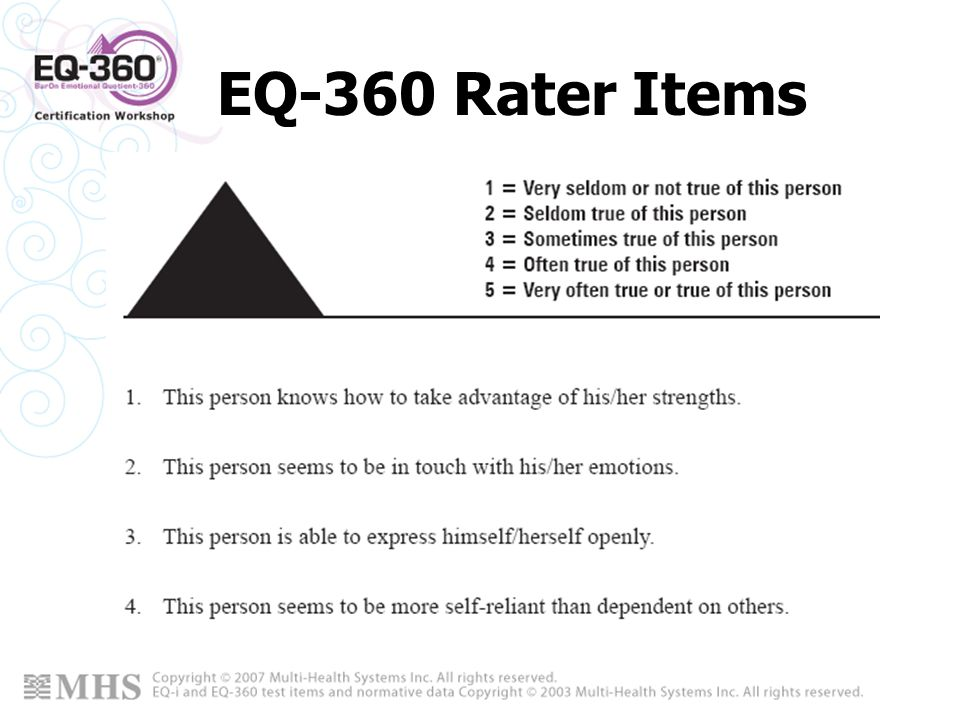 EQ-360 Rater Items
