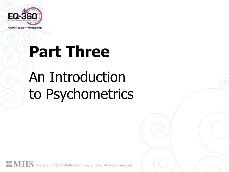 An Introduction to Psychometrics