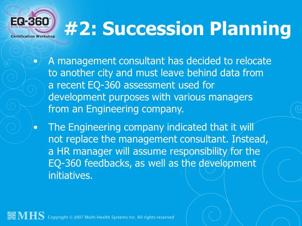 #2: Succession Planning