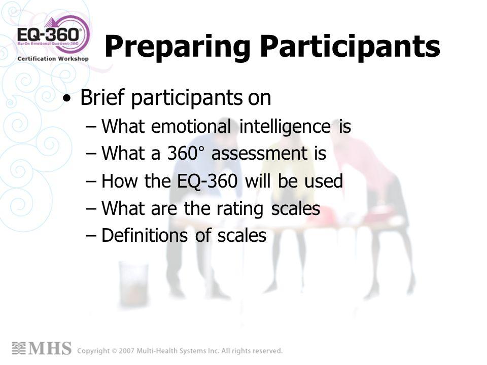Preparing Participants
