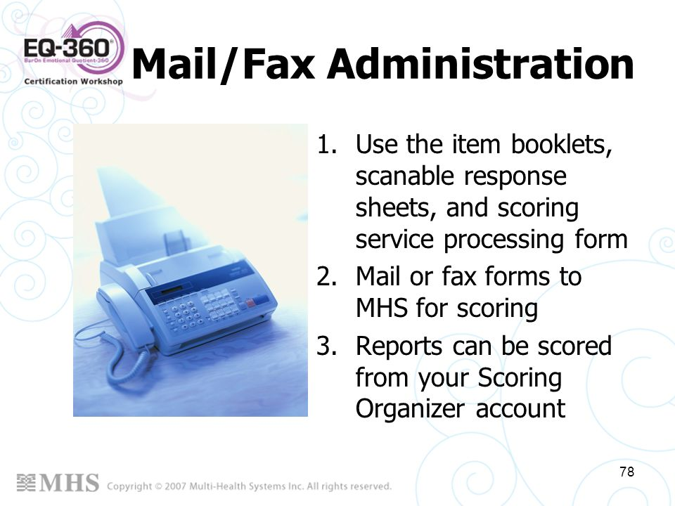 Mail/Fax Administration