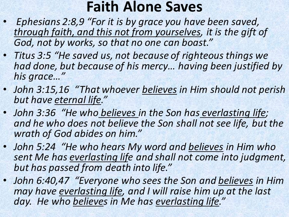 Faith Alone Saves