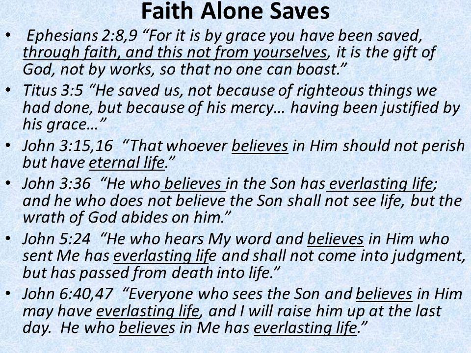 Faith Alone Saves