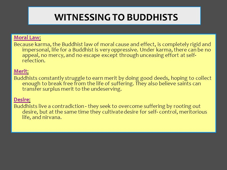 WITNESSING TO BUDDHISTS