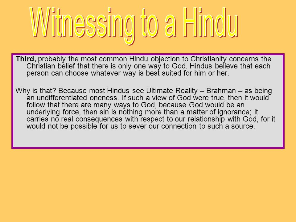 Witnessing to a Hindu