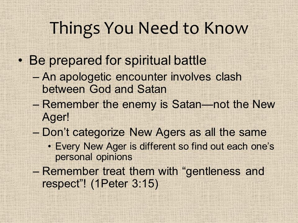 Things You Need to Know Be prepared for spiritual battle