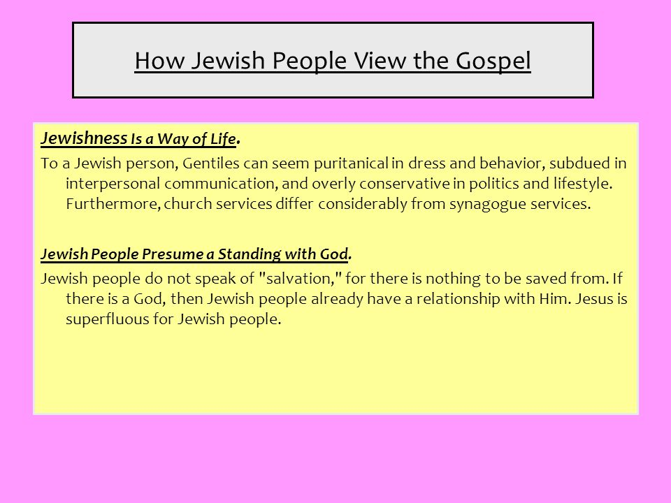 How Jewish People View the Gospel