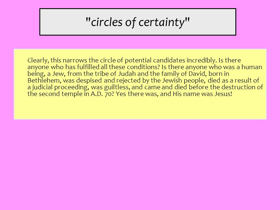 circles of certainty