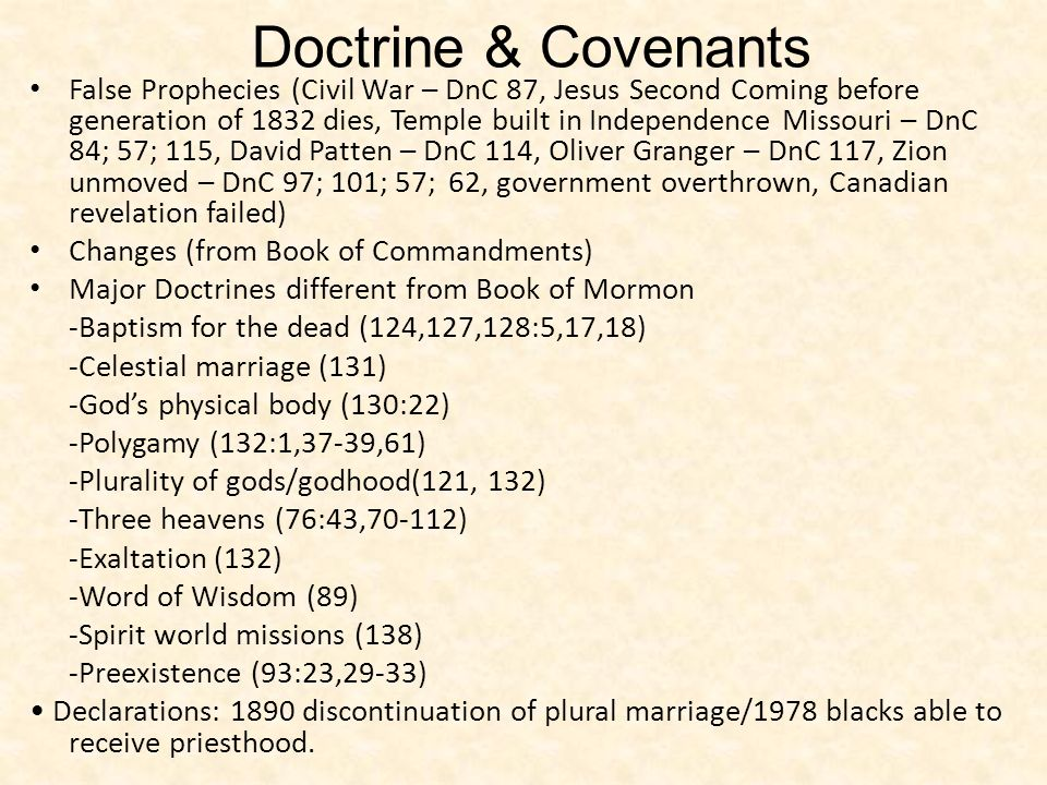 Doctrine & Covenants