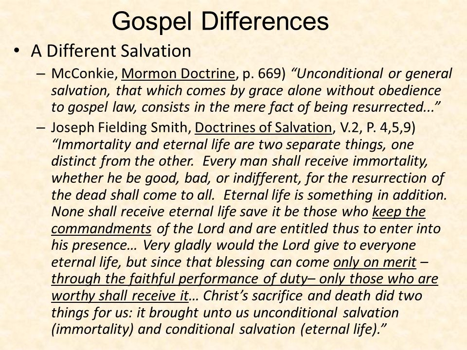 Gospel Differences A Different Salvation
