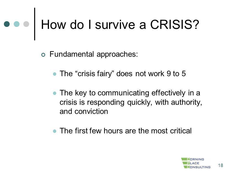 How do I survive a CRISIS