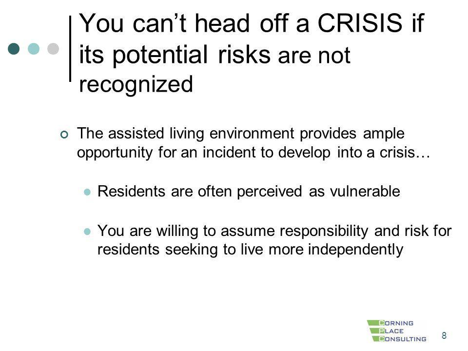 You can't head off a CRISIS if its potential risks are not recognized