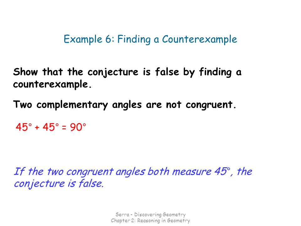 Example 6: Finding a Counterexample