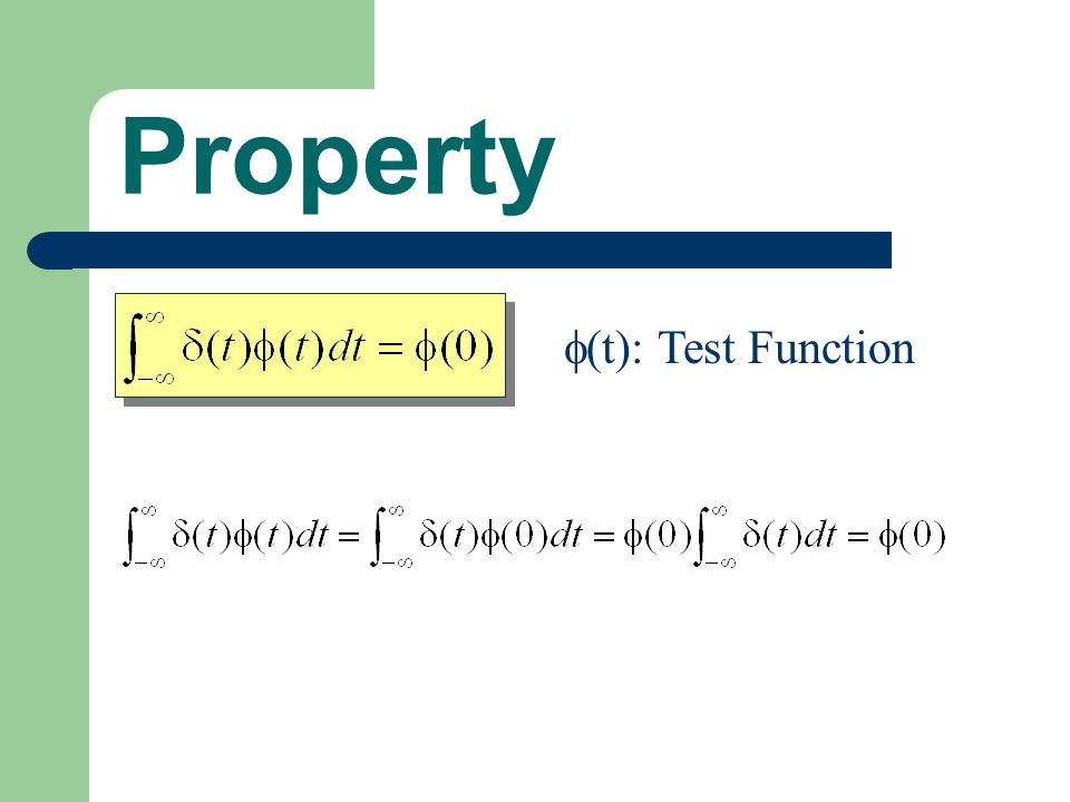 Property (t): Test Function