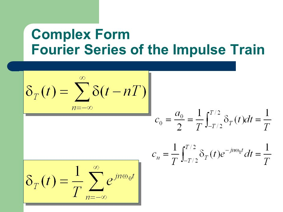 Complex Form Fourier Series of the Impulse Train