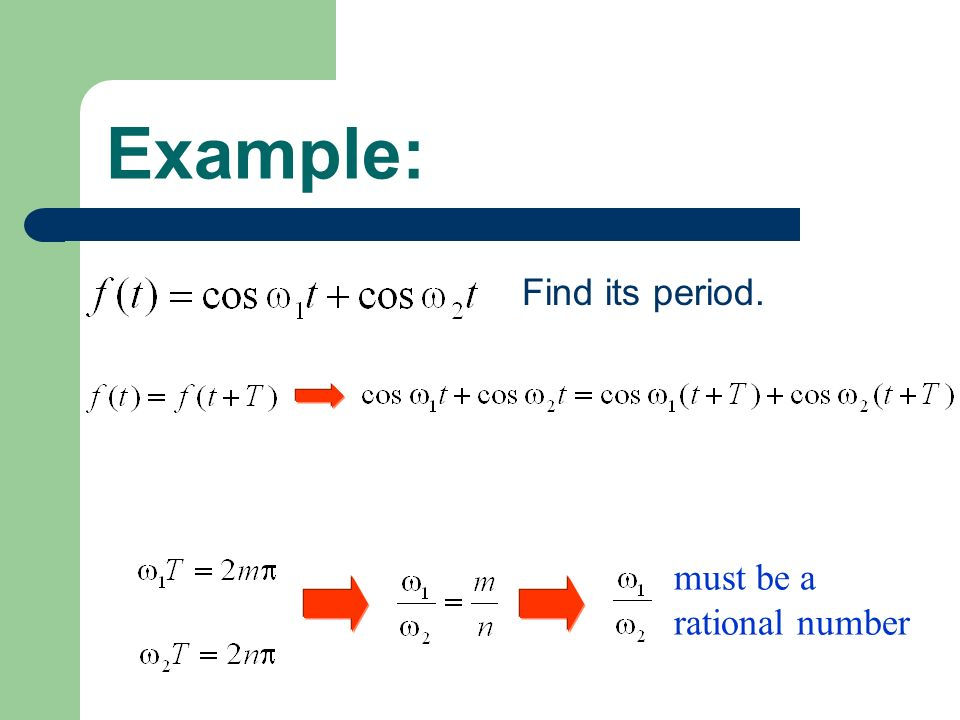 Example: Find its period. must be a rational number