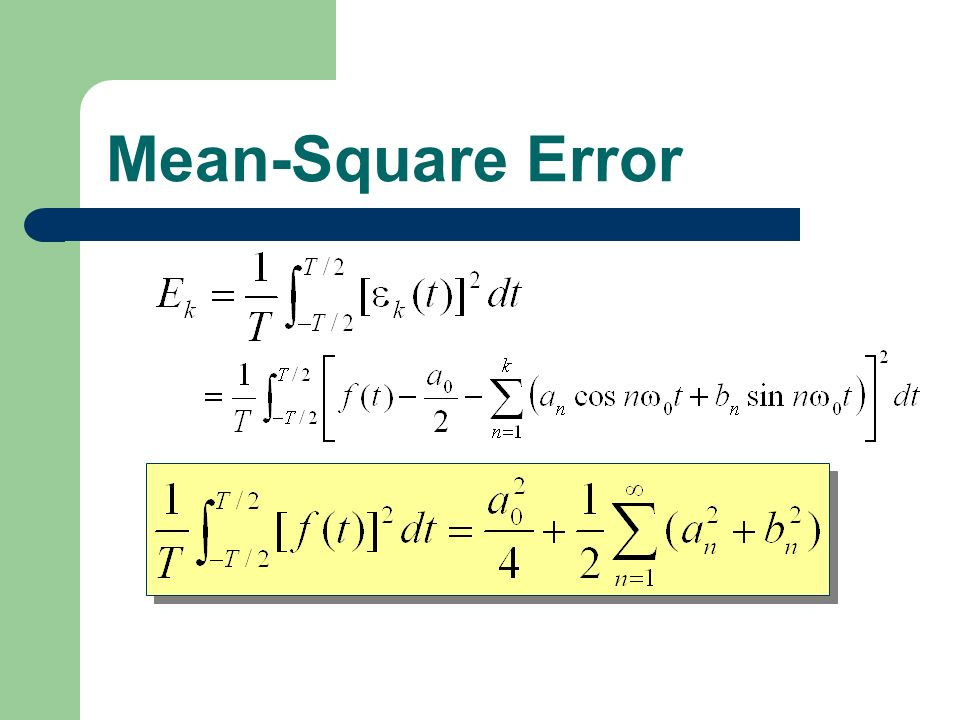 Mean-Square Error