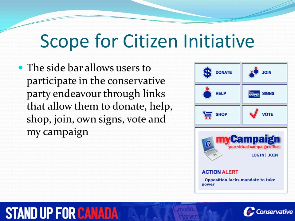 Scope for Citizen Initiative