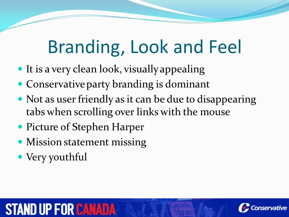Branding, Look and Feel It is a very clean look, visually appealing
