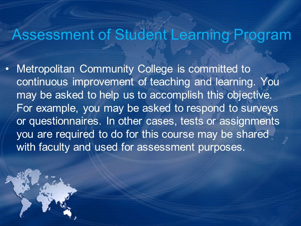 Assessment of Student Learning Program