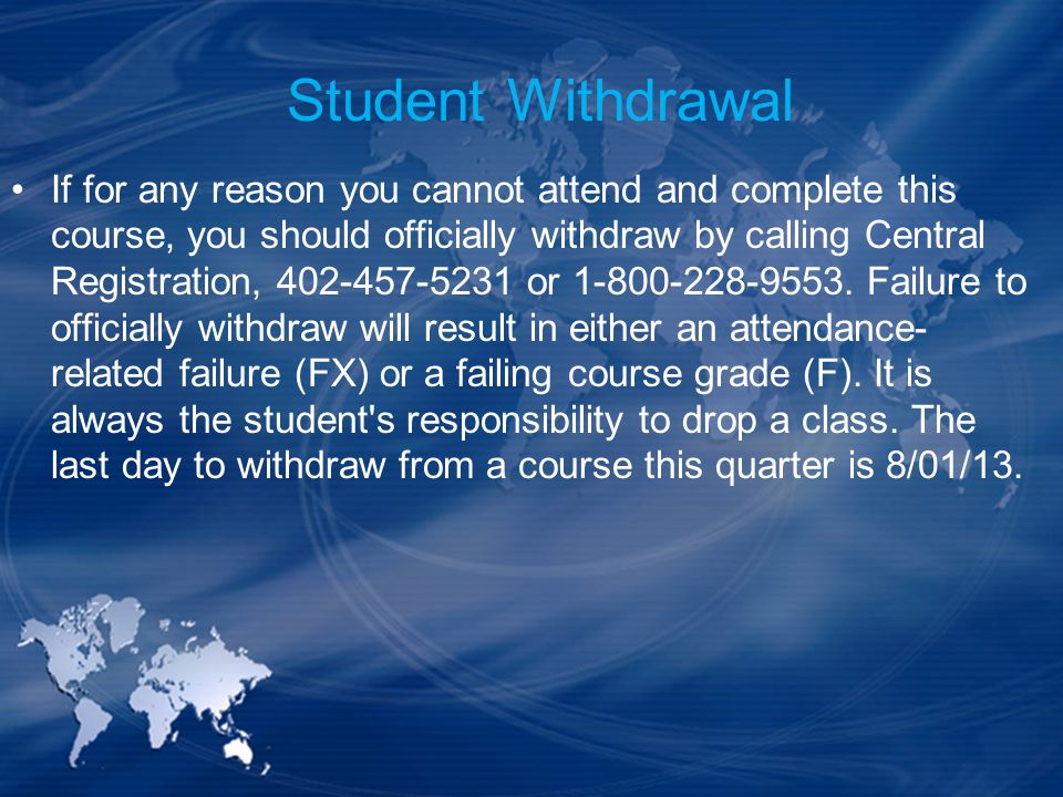 Student Withdrawal