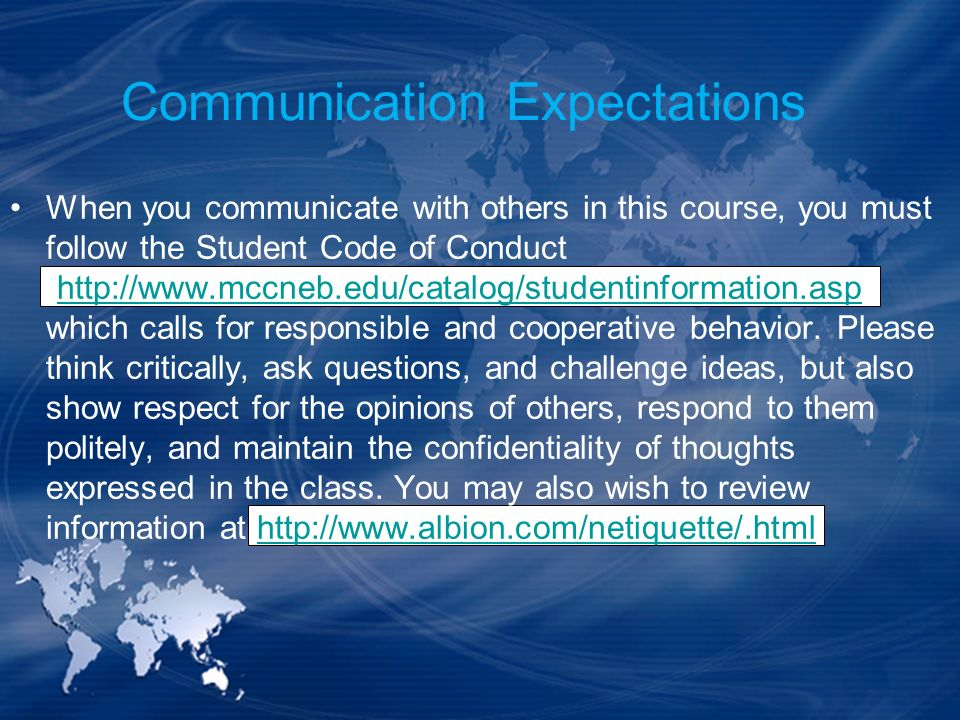 Communication Expectations