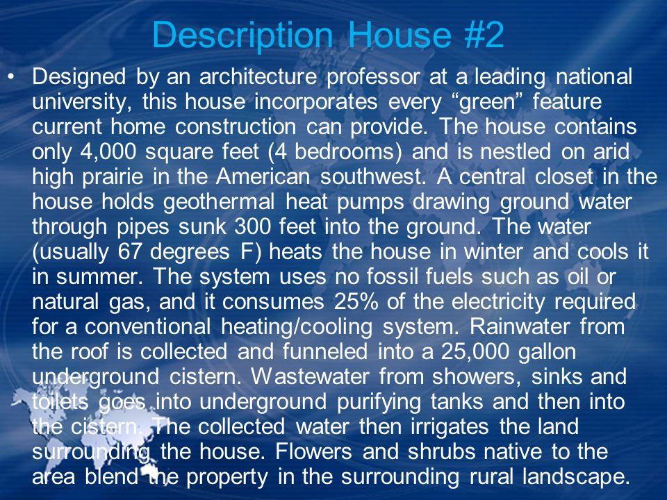 Description House #2