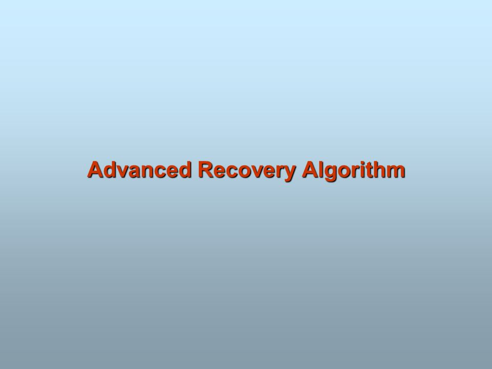 Advanced Recovery Algorithm