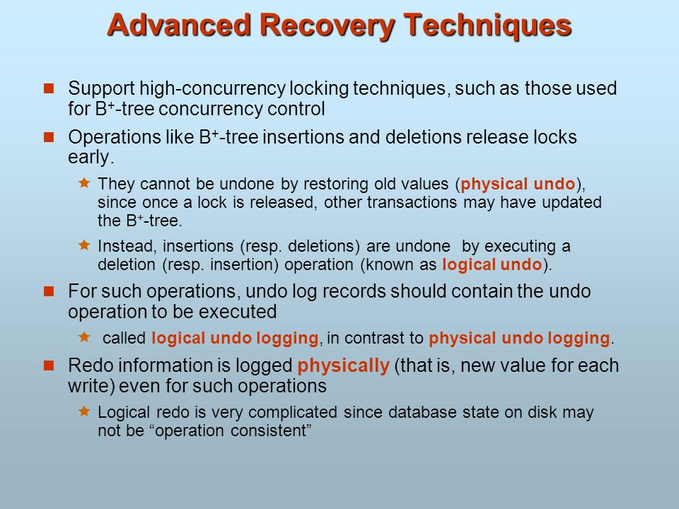 Advanced Recovery Techniques