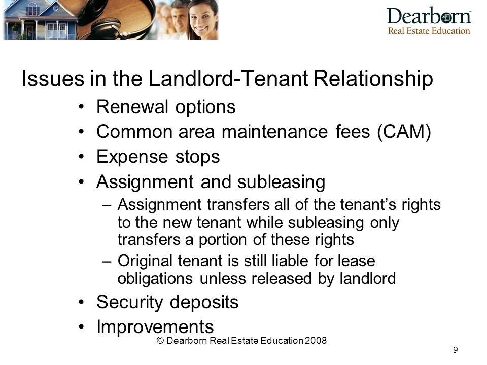 Issues in the Landlord-Tenant Relationship