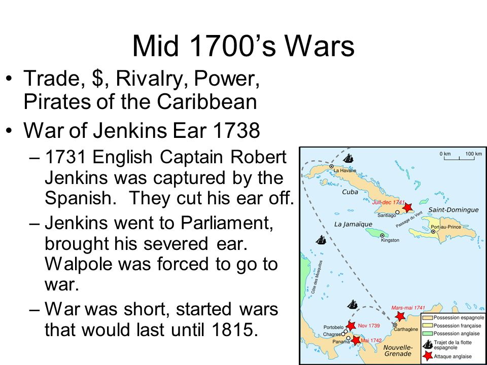 Mid 1700's Wars Trade, $, Rivalry, Power, Pirates of the Caribbean