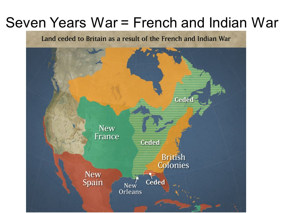 Seven Years War = French and Indian War