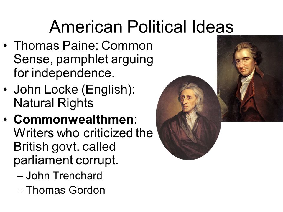 American Political Ideas