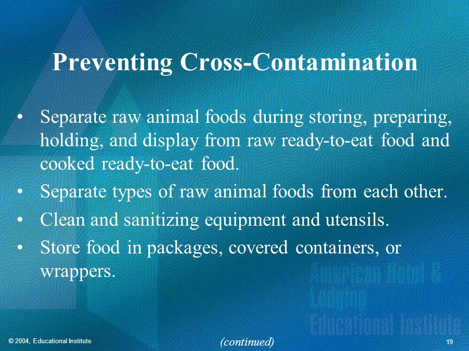 Preventing Cross-Contamination