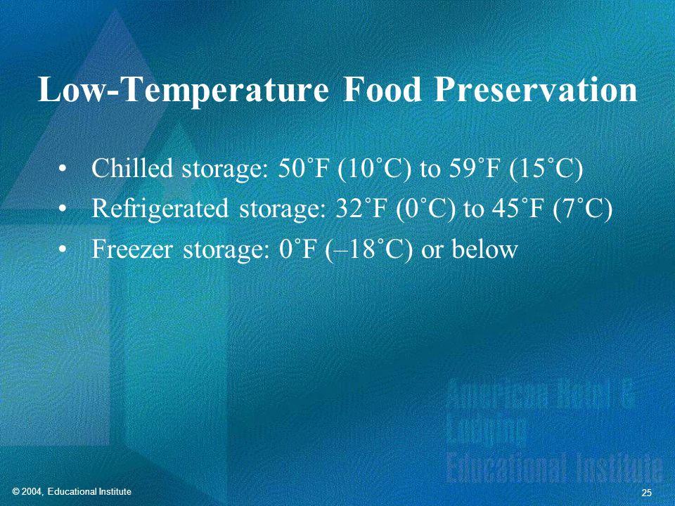 Low-Temperature Food Preservation