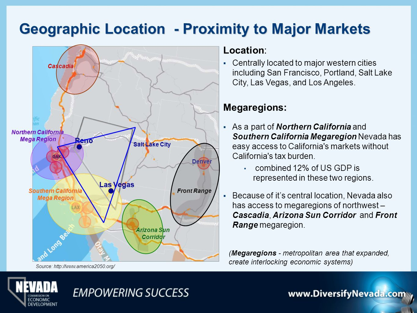 Geographic Location - Proximity to Major Markets