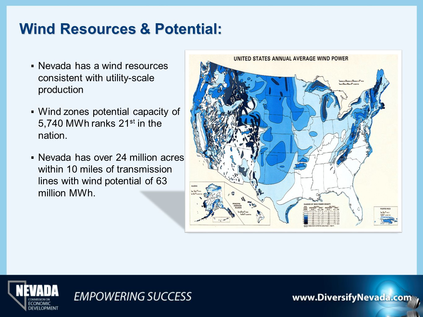 Wind Resources & Potential: