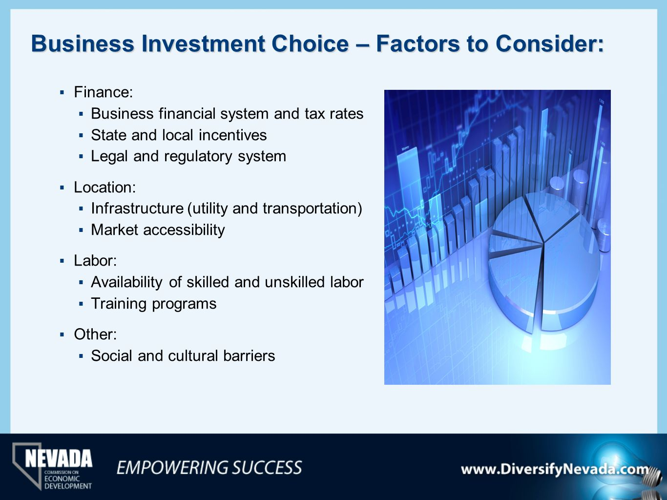 Business Investment Choice – Factors to Consider: