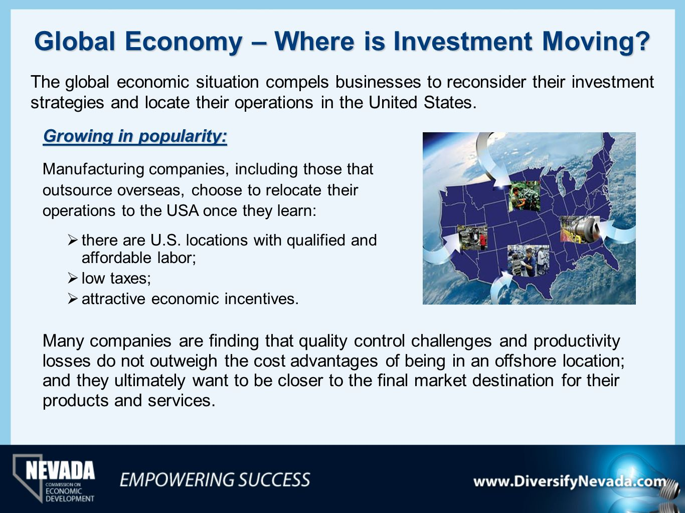Global Economy – Where is Investment Moving