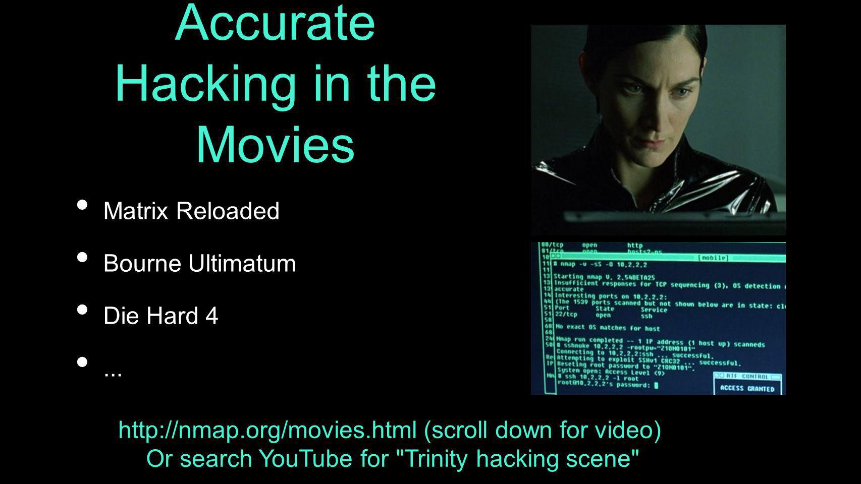 Accurate Hacking in the Movies