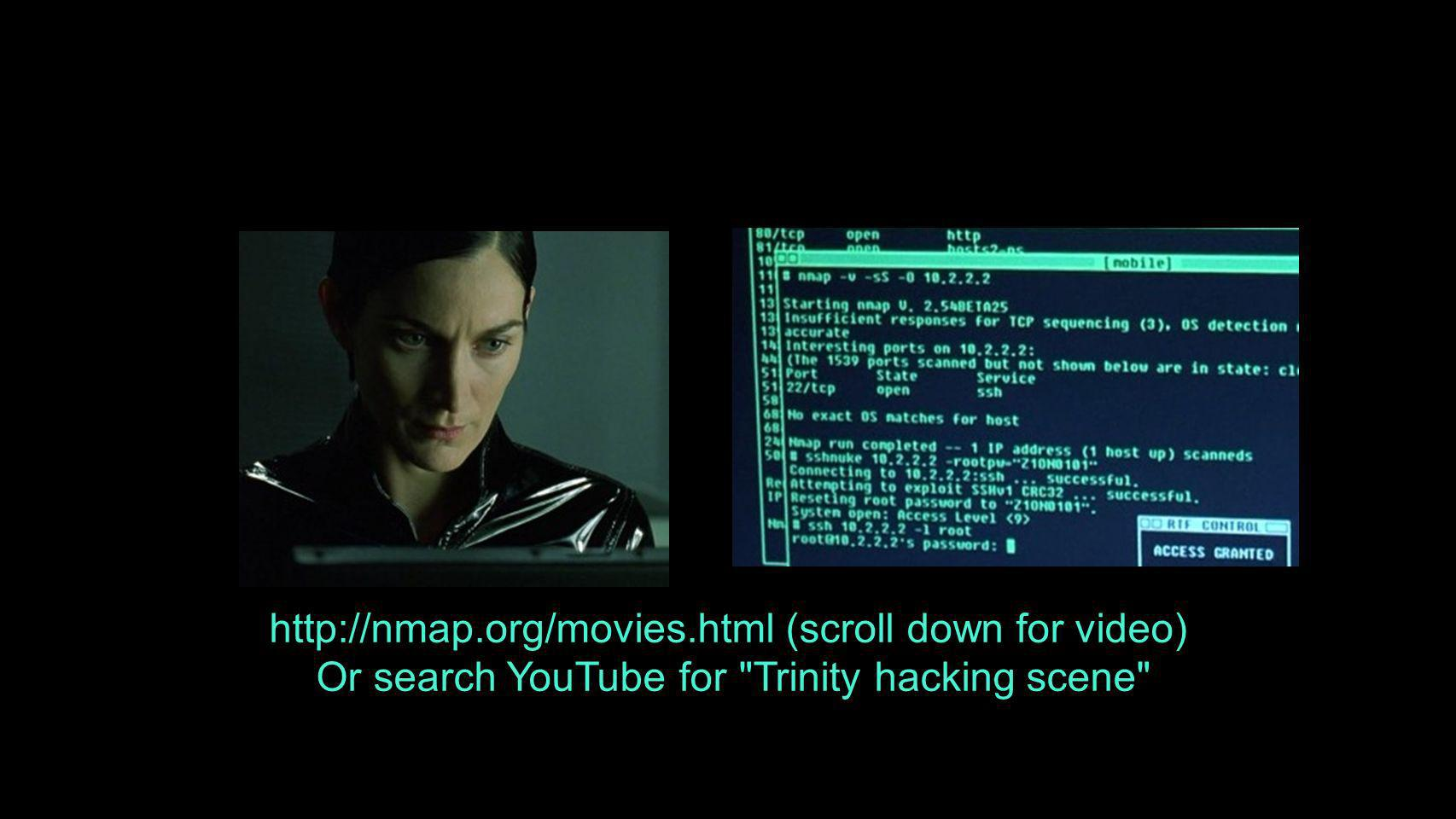 http://nmap.org/movies.html (scroll down for video)