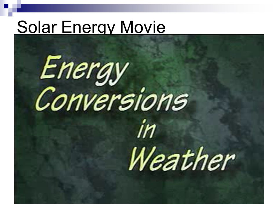 Solar Energy Movie