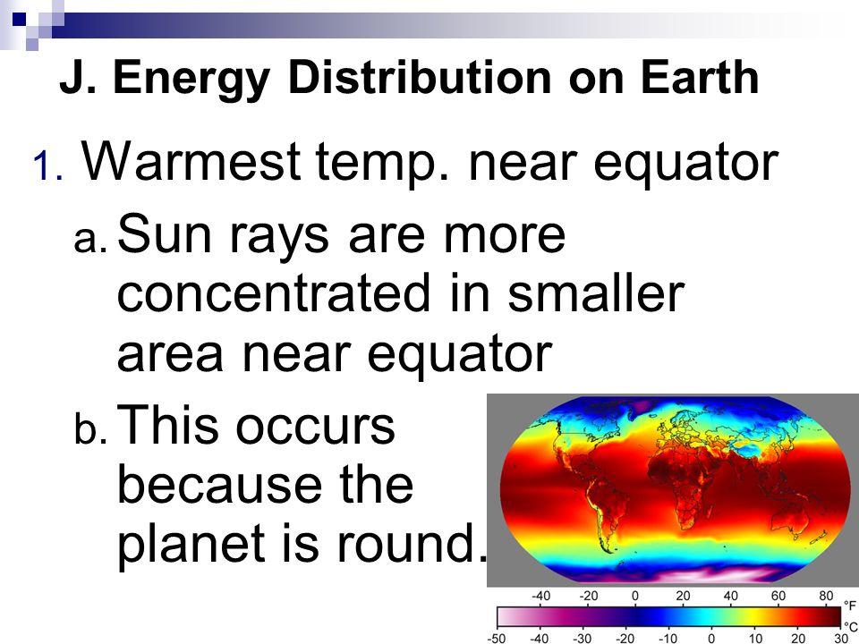 J. Energy Distribution on Earth