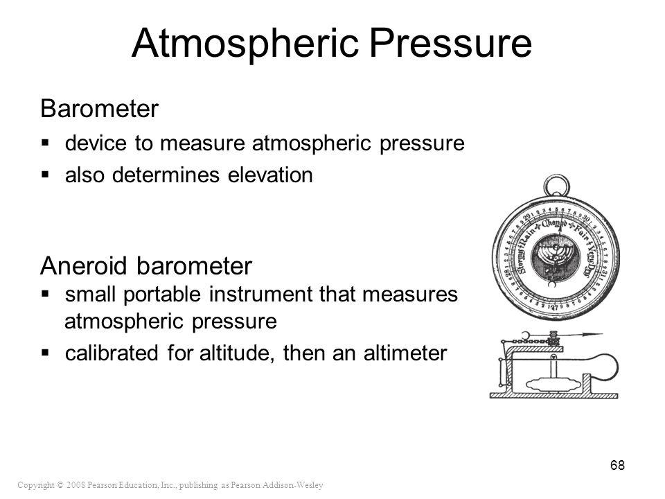 Atmospheric Pressure Barometer Aneroid barometer