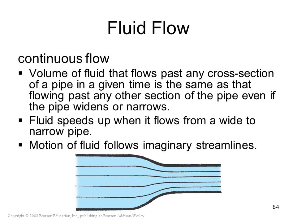 Fluid Flow continuous flow