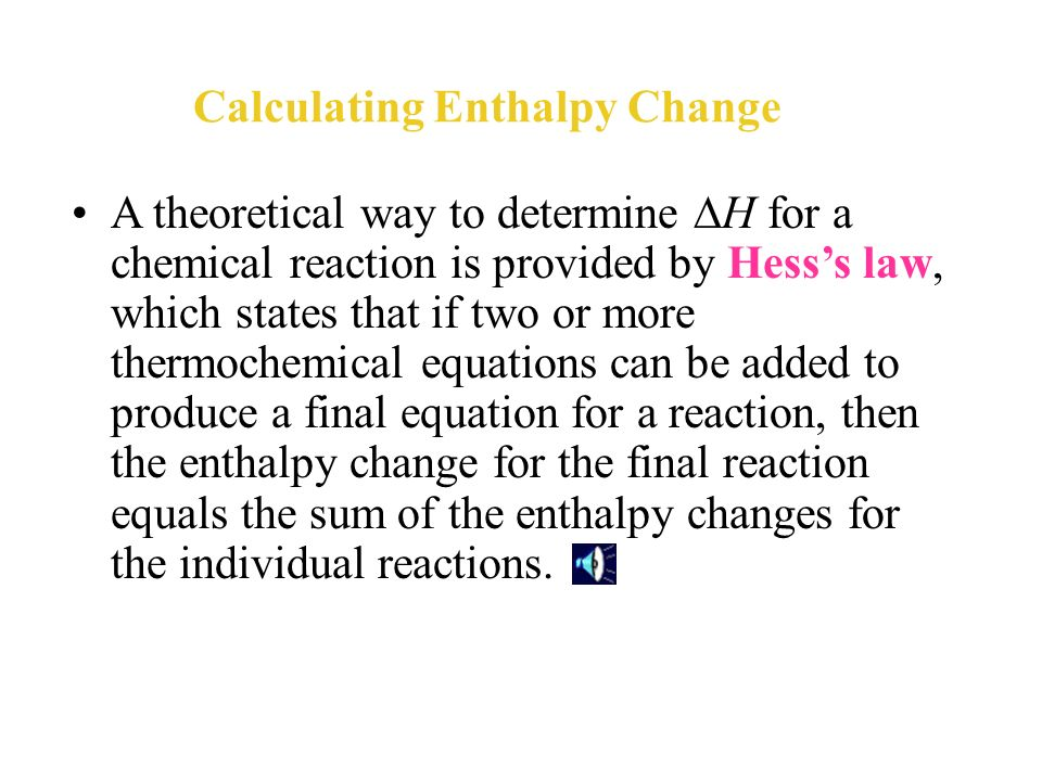 applying hess s law Hess' law of constant heat summation, also known as hess' law (or hess's law),  is a  commons attribution-sharealike license additional terms may apply.
