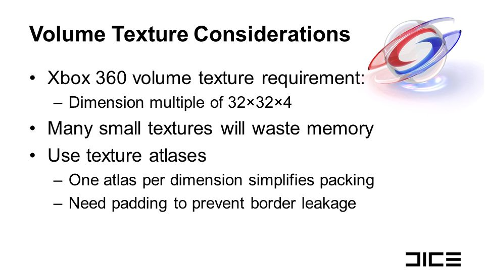 Volume Texture Considerations