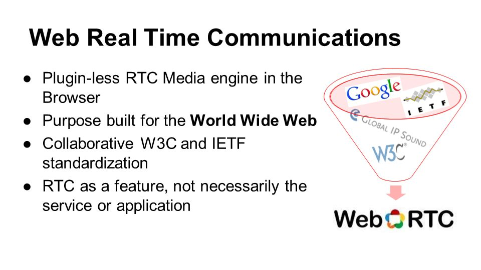 Web Real Time Communications