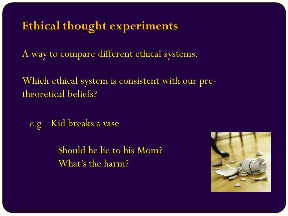 Ethical thought experiments