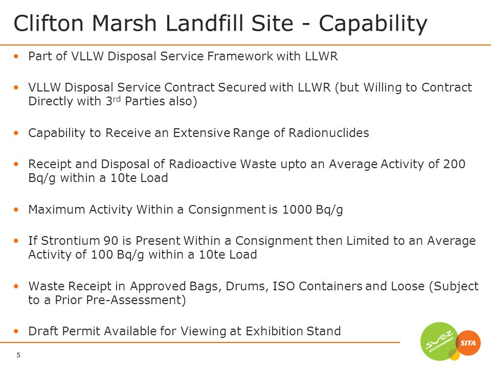 Clifton Marsh Landfill Site - Capability